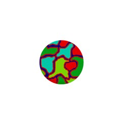 Colorful abstract design 1  Mini Magnets