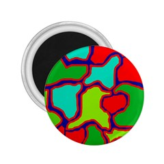 Colorful abstract design 2.25  Magnets