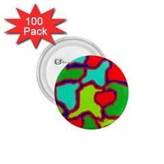 Colorful abstract design 1.75  Buttons (100 pack)