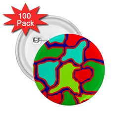 Colorful abstract design 2.25  Buttons (100 pack)