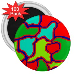 Colorful abstract design 3  Magnets (100 pack)