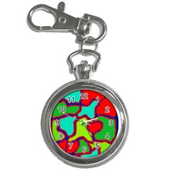 Colorful abstract design Key Chain Watches