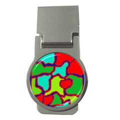 Colorful abstract design Money Clips (Round)