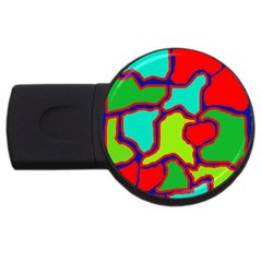 Colorful abstract design USB Flash Drive Round (2 GB)