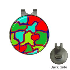Colorful abstract design Hat Clips with Golf Markers