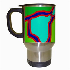 Colorful abstract design Travel Mugs (White)