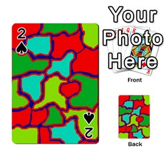 Colorful abstract design Playing Cards 54 Designs