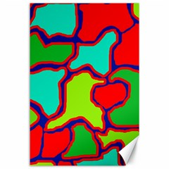 Colorful abstract design Canvas 24  x 36