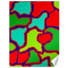 Colorful abstract design Canvas 36  x 48