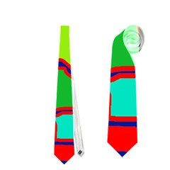 Colorful abstract design Neckties (Two Side)