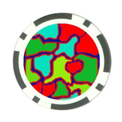 Colorful abstract design Poker Chip Card Guards