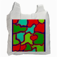 Colorful abstract design Recycle Bag (Two Side)