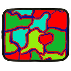 Colorful abstract design Netbook Case (XXL)