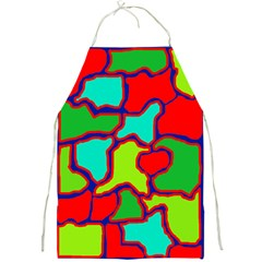 Colorful abstract design Full Print Aprons