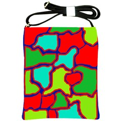 Colorful abstract design Shoulder Sling Bags