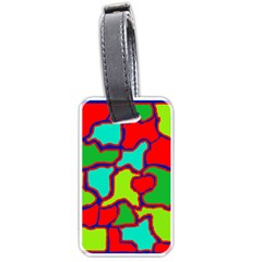 Colorful Abstract Design Luggage Tags (two Sides)