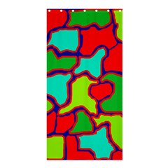 Colorful abstract design Shower Curtain 36  x 72  (Stall)