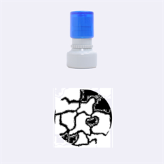 Colorful abstract design Rubber Round Stamps (Small)