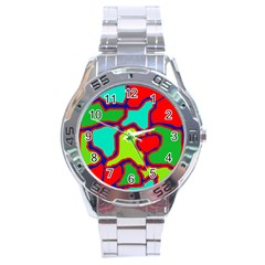 Colorful abstract design Stainless Steel Analogue Watch