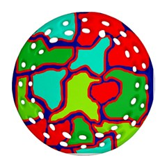 Colorful abstract design Ornament (Round Filigree)