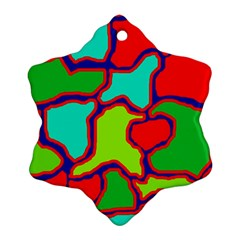 Colorful abstract design Snowflake Ornament (2-Side)