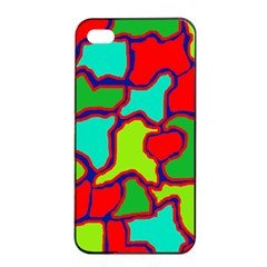 Colorful abstract design Apple iPhone 4/4s Seamless Case (Black)