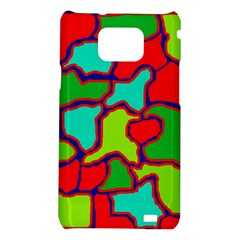 Colorful abstract design Samsung Galaxy S2 i9100 Hardshell Case