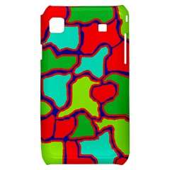 Colorful abstract design Samsung Galaxy S i9000 Hardshell Case