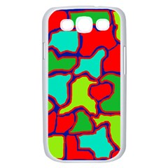 Colorful abstract design Samsung Galaxy S III Case (White)