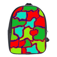 Colorful abstract design School Bags (XL)
