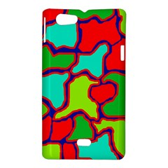 Colorful abstract design Sony Xperia Miro