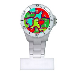 Colorful abstract design Plastic Nurses Watch