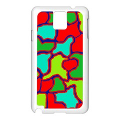 Colorful abstract design Samsung Galaxy Note 3 N9005 Case (White)