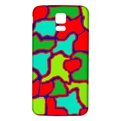 Colorful abstract design Samsung Galaxy S5 Back Case (White)