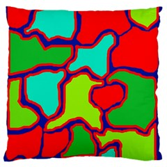 Colorful abstract design Large Flano Cushion Case (Two Sides)