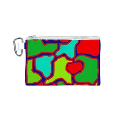 Colorful abstract design Canvas Cosmetic Bag (S)