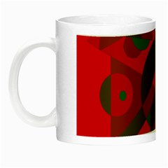 Red and green abstract design Night Luminous Mugs