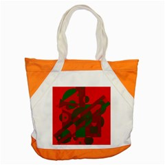 Red and green abstract design Accent Tote Bag