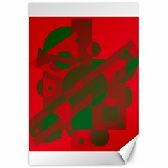 Red and green abstract design Canvas 20  x 30