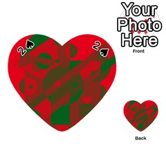 Red and green abstract design Playing Cards 54 (Heart)