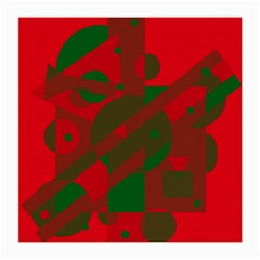 Red and green abstract design Medium Glasses Cloth (2-Side)