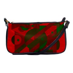 Red and green abstract design Shoulder Clutch Bags