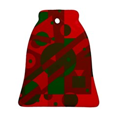 Red and green abstract design Bell Ornament (2 Sides)
