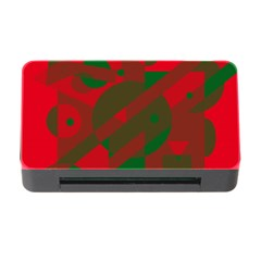 Red and green abstract design Memory Card Reader with CF