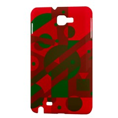 Red and green abstract design Samsung Galaxy Note 1 Hardshell Case