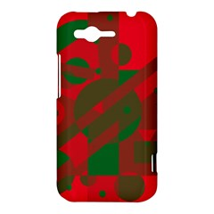 Red and green abstract design HTC Rhyme