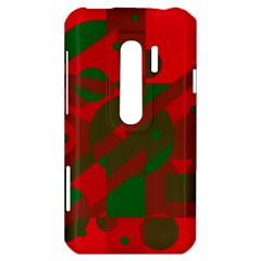 Red and green abstract design HTC Evo 3D Hardshell Case