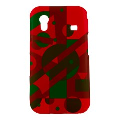 Red and green abstract design Samsung Galaxy Ace S5830 Hardshell Case