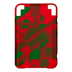 Red and green abstract design Kindle 3 Keyboard 3G