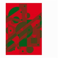 Red and green abstract design Small Garden Flag (Two Sides)